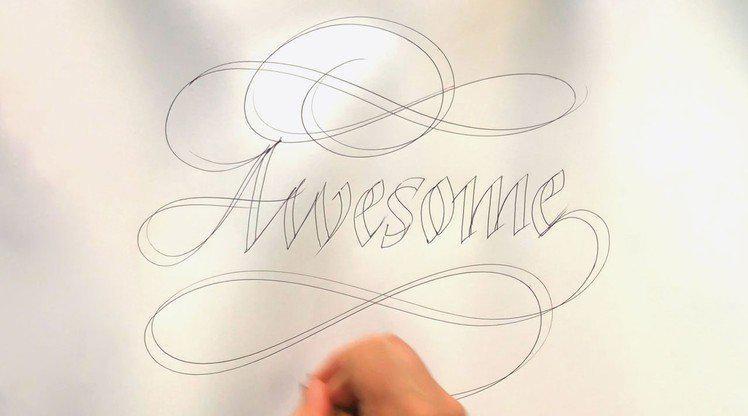 知名书道艺术家 Seb Lester 公开教学如何制作手写艺术作品
