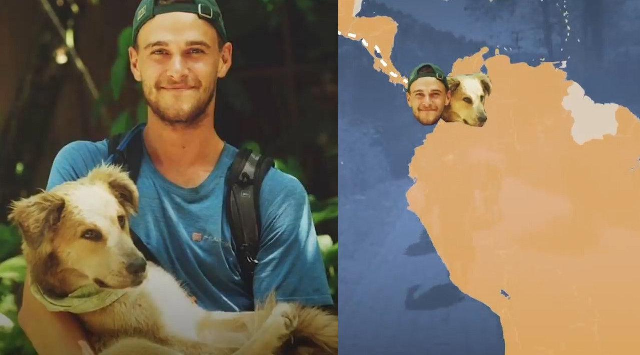 小哥带着狗子遛遍全世界,走过18000英里……