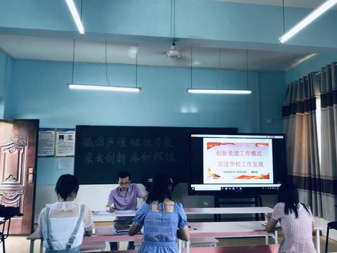汉阴县太平小学党支部召开七月份主题党日活动