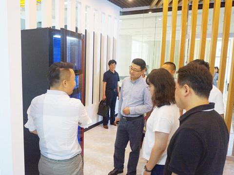 热烈欢迎中国建筑设计院领导一行莅临天诚智能集团参观考察