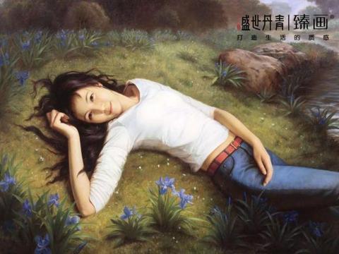 艺术家人体油画中的东方女郎,至柔至美,性感无边