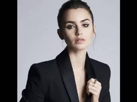 莉莉柯林斯为Lancôme的睫毛膏拍摄的新宣传片……
