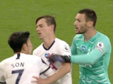 戏剧性!孙兴慜和洛里冲突,下半场就和解,比赛后俩人相互拥抱!