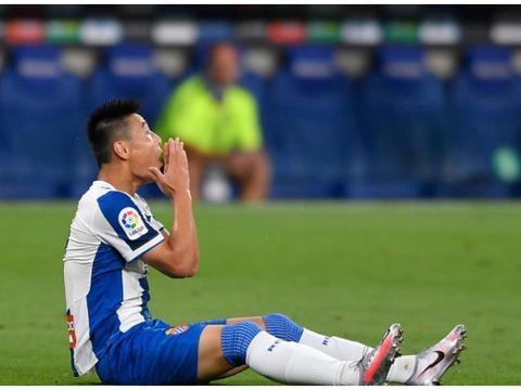 西甲:西班牙人5连败!武磊连续6场未进球!卡莱里被红牌罚下