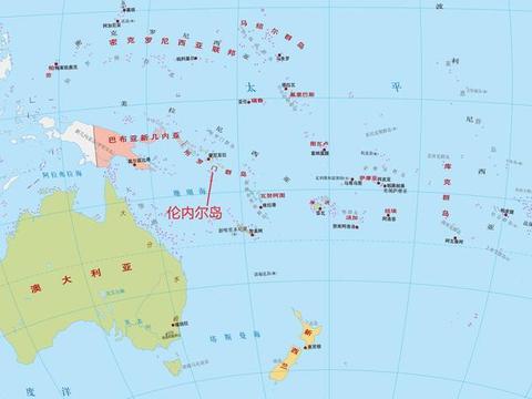 所罗门群岛的伦内尔岛,岛上拥有世界上最大的上升珊瑚环礁湖