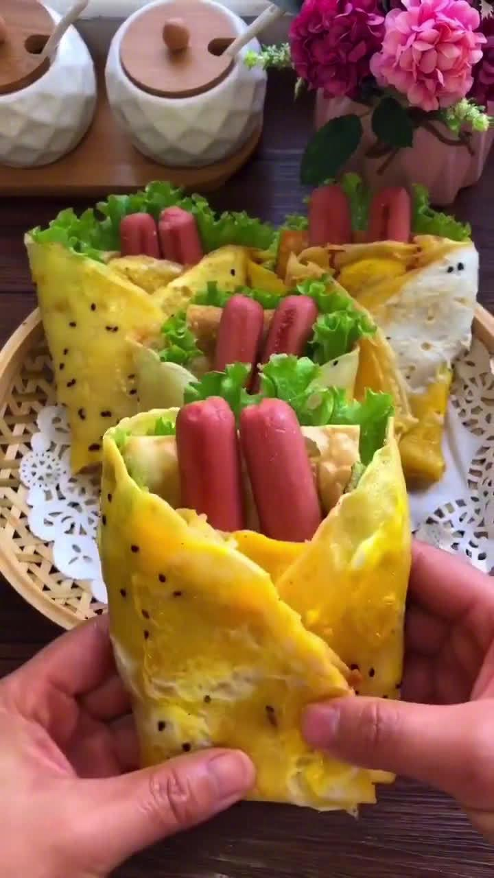杂粮煎饼果子,在家也能自己做,干净卫生,实惠好吃!