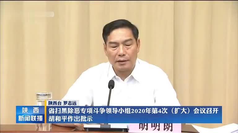 省扫黑除恶专项斗争领导小组2020年第4次(扩大)会议召开 胡和平作出批示