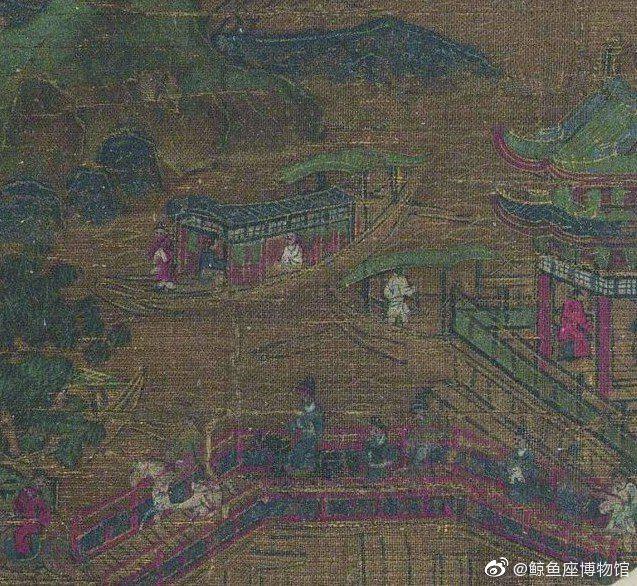 《九成避暑图》 唐 | 李思训(传) | 九成避暑图页 | 纸本 | 41x81
