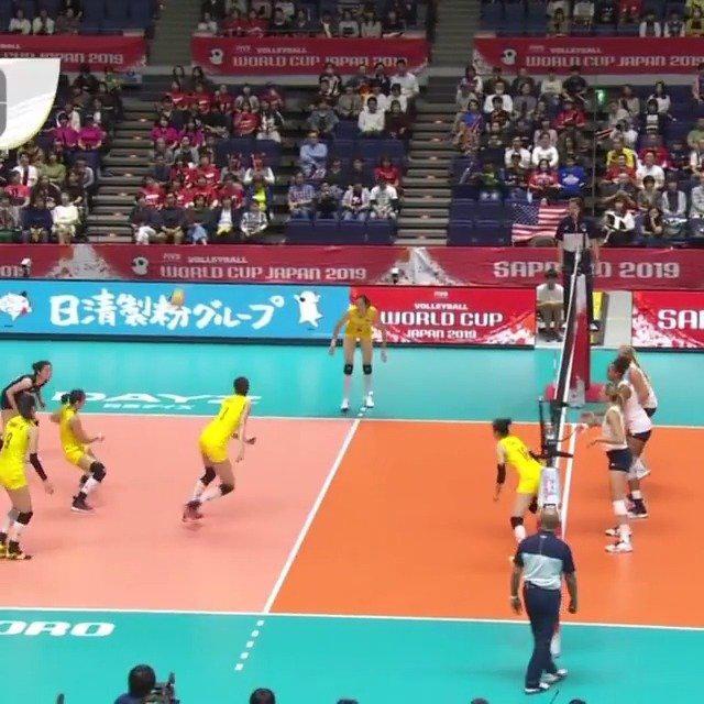中国女排带刀二传的这个球真是永远都吹不够