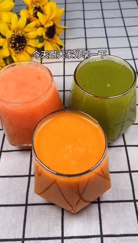 三款自制果蔬汁,你可千万不要这么喝,我怕追你的人排成队!