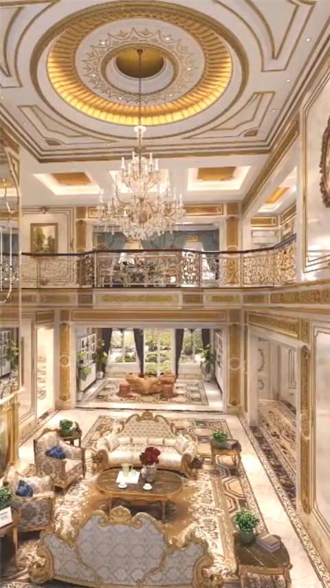 价值5亿的豪宅,这装修堪比皇宫,贫穷限制了我的想象力