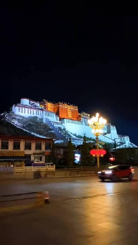 西藏旅游  拉萨周边游  布达拉宫夜景