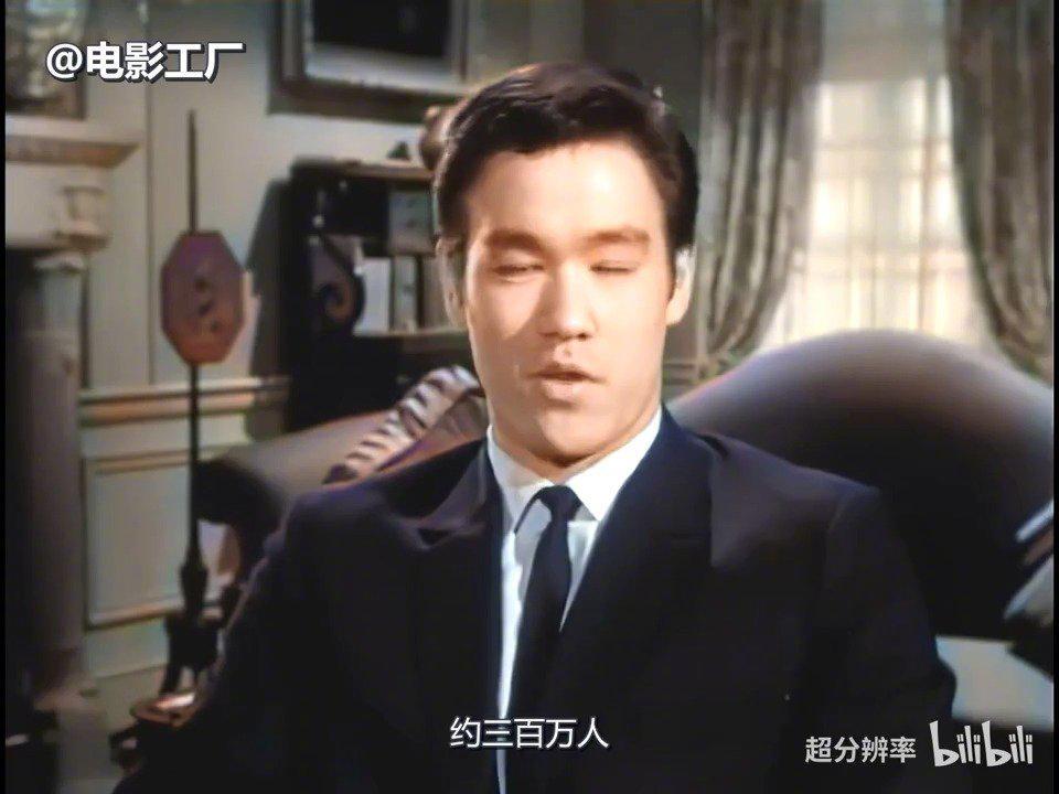 李小龙1965年好莱坞试镜视频彩色高清修复版!