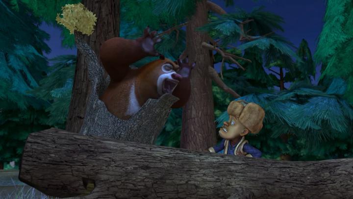 熊出没:强哥左跑又跑,好不容易躲起来了,结果又被怪物找到了