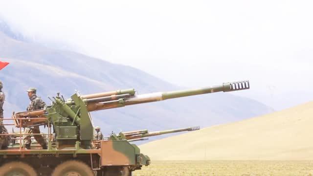 火箭炮、榴弹炮火力全开!西藏军区某合成旅海拔4600米突击演练