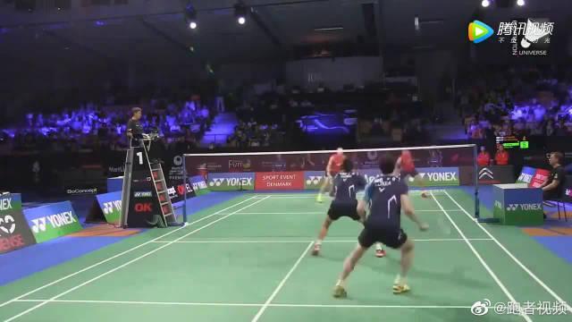 傅海峰,张楠vs李龙大,柳延星,上演教科书般的轮转站位和杀球