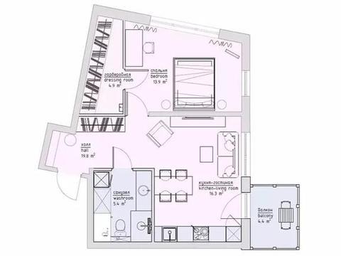 64平的小户型公寓,用软装装点整个家,你能给它打几分?