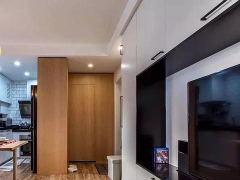 49平的长条形小户型,客厅边上做个榻榻米,也是一间房