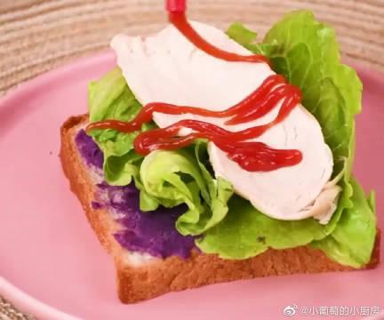 满口留香的三明治,好吃又低脂,5分钟搞定,快试试吧!