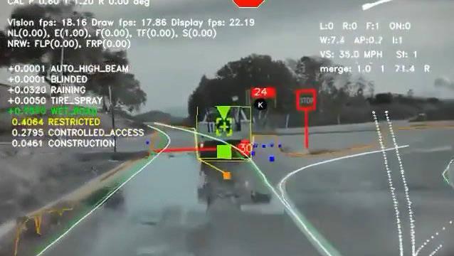 视频展示特斯拉利用神经网络技术所看到的这是耗费万个小时训练每