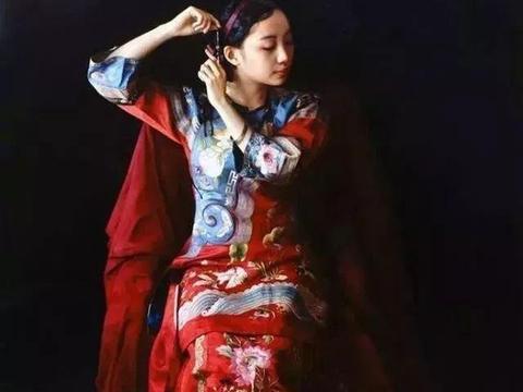 旅美油画家赵开霖用西方写实主义手法,画出东方传统美人