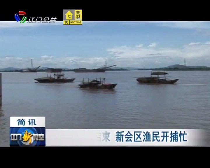珠江休渔期结束,新会区渔民开捕忙