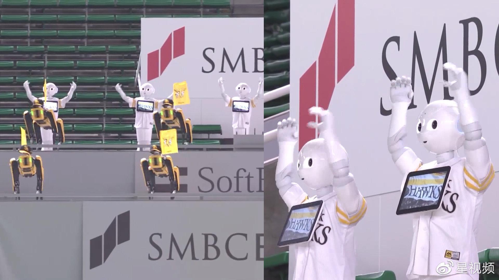 """满满的仪式感!棒球联赛无观众,中二机器人军团带""""狗""""热舞应援"""