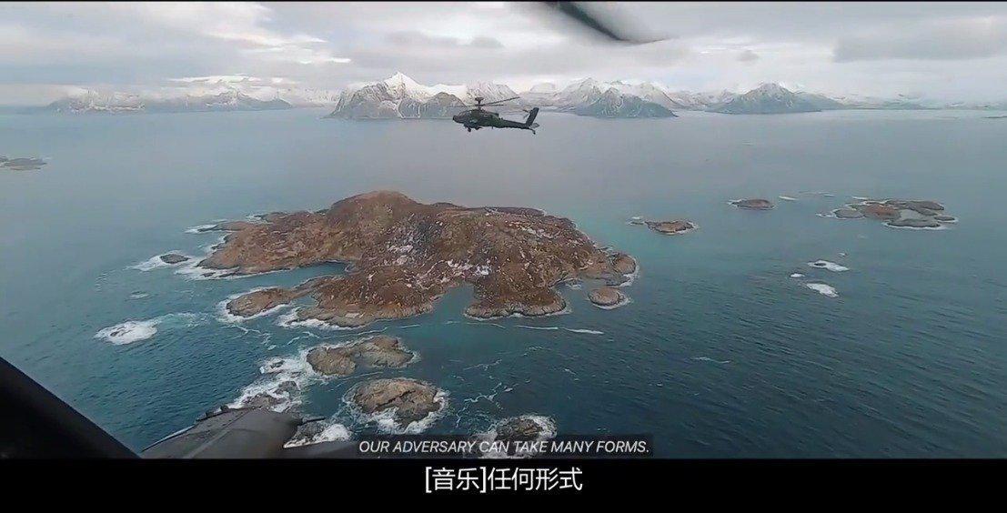 英国陆军阿帕奇武装直升机在挪威最北部的极寒下训练~