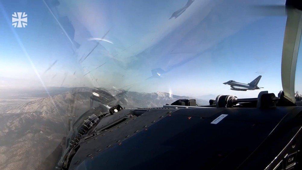 德国联邦空军在拉斯维加斯参加红旗军演~