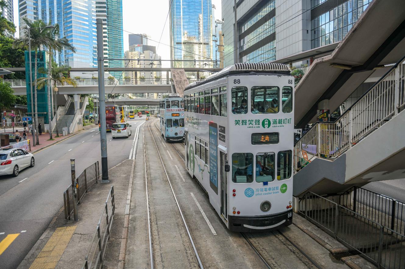 香港街景。