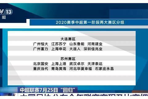"""中超联赛7月25日""""回归""""足协公布赛程及比赛细则"""