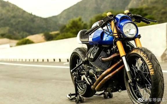 Moto Guzzi V7改装 cafe racer 风格复古摩托车 by Lucky