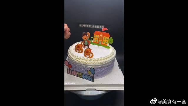 祝小朋友们明年节日快乐!超级可爱的一款蛋糕啊!