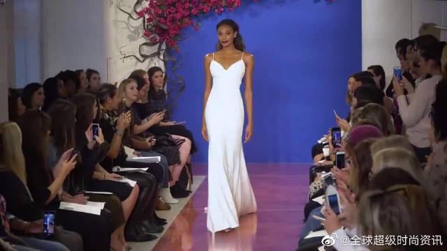 时尚T台秀:2020纽约时装周全新高端婚纱秀超模走秀第四部分……