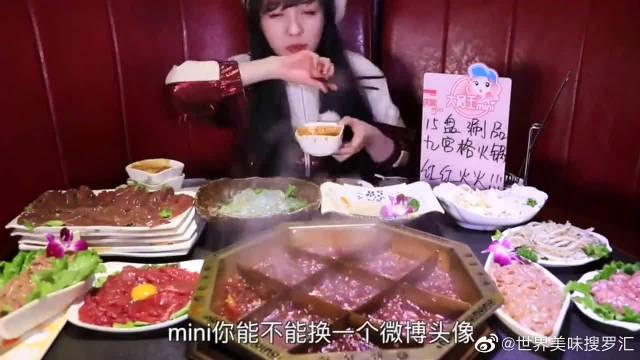 """大胃王mini吃火锅化身""""涮肉狂魔""""……"""