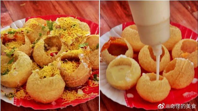 艾哈迈达巴德著名的街头小吃,满满的诱惑,印度街头美食