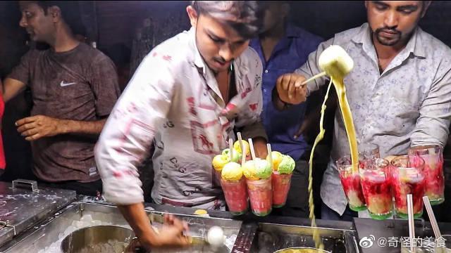 印度最快的法鲁达制造商,三勺皇家冰淇淋法鲁达,印度街头美食