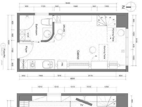 人生首套房,50㎡的复式空间,卧室装折叠门,兼顾工作与生活!