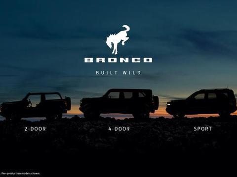 福特Bronco新消息,有11种车身颜色