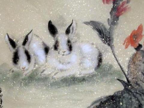 """""""十兔九鸿运"""":大金兔你的贵人来了,必有""""两喜""""缠身!恭喜哦"""