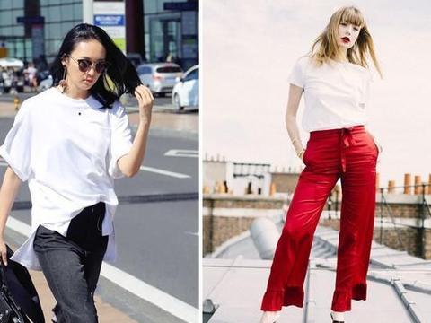 """夏季最""""烂大街""""的白T恤,建议你多穿这2款"""