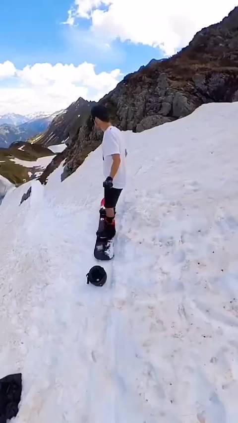 单板滑雪,这个速度太刺激了