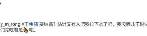"""疑似马蓉小号发声,辟谣王宝强结婚:没听儿子说过快有""""后妈"""""""
