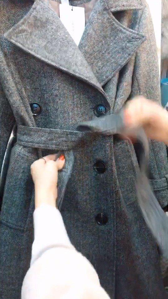风衣腰带的五种系法,适合不同风格的人群:1.休闲风;2