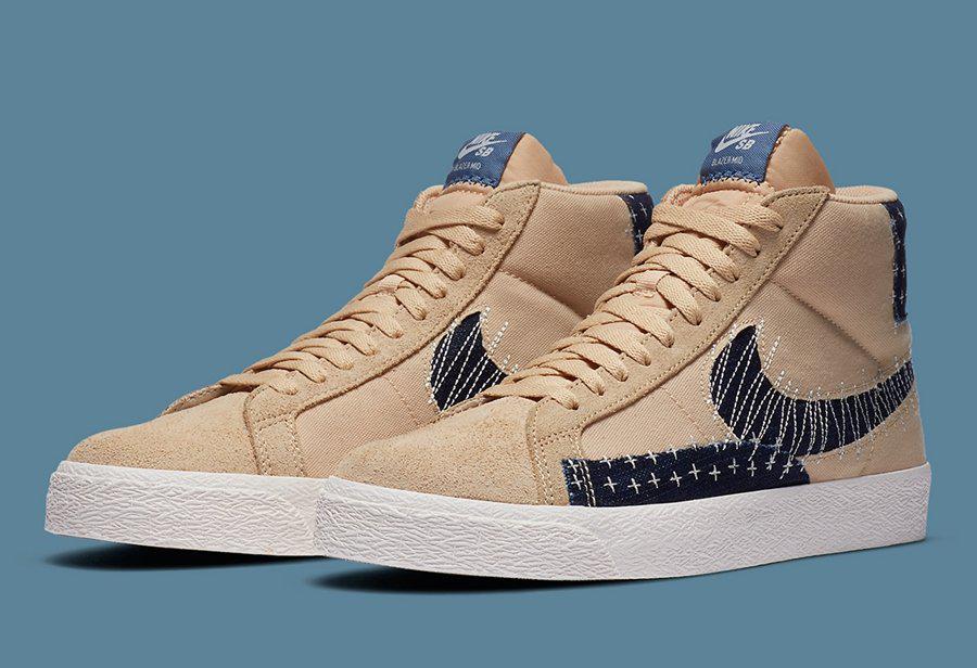 日式小刺风格 Nike Blazer Mid!细节质感非常高级!