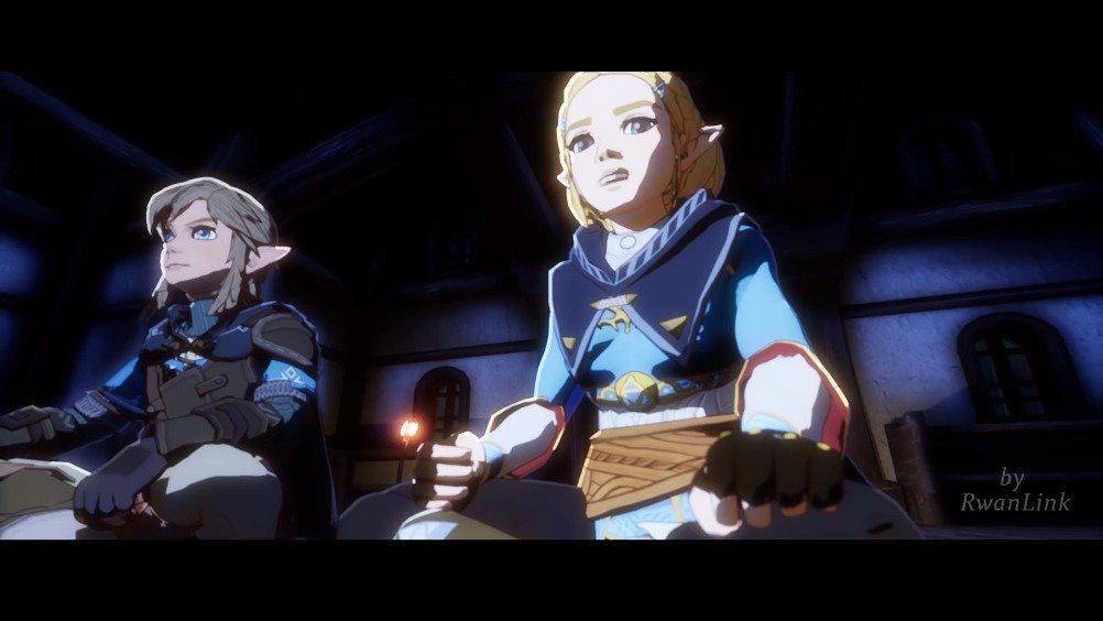 《塞尔达传说:旷野之息2》 同人动画 - 觉醒 剧情从林克和塞尔达