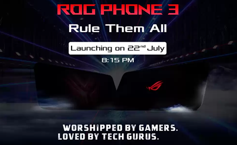 官宣ROG游戏手机3将于7月22日登陆印度市场