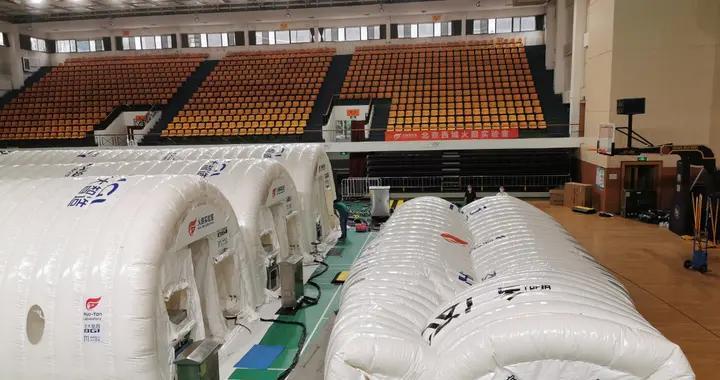 使命完成,北京西城大兴两座气膜版核酸检测实验室开始拆除