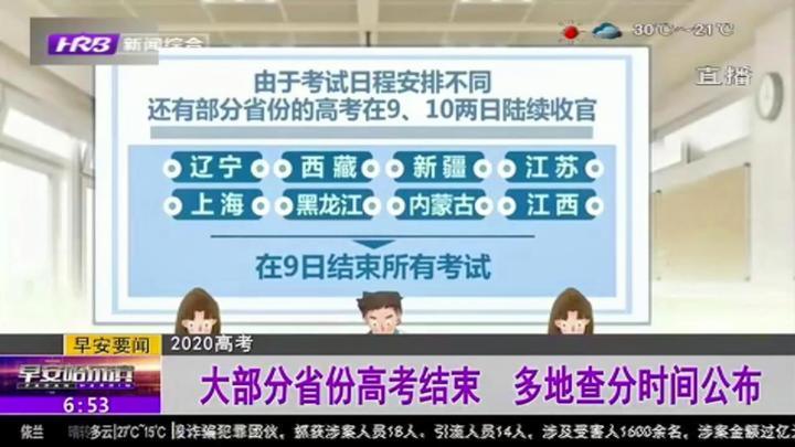 2020年大部分省份考高结束:北京、天津等地公布高考成绩查询时间