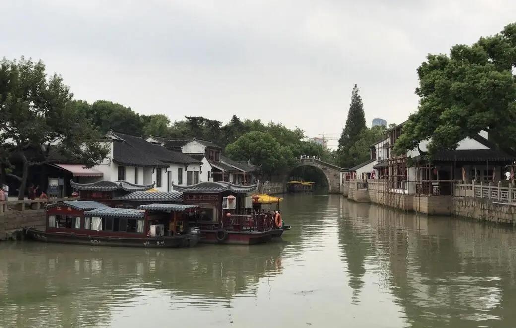 明清中华第一镇,全国最大的粮食集散地,苏州古运河畔枫桥古镇